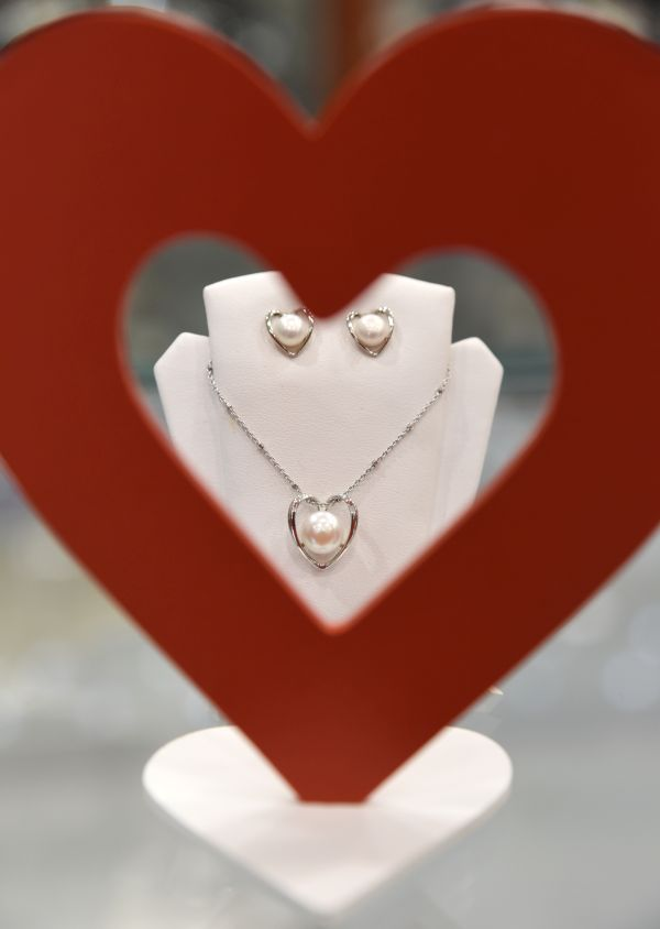 Set din argint cu perle de cultură