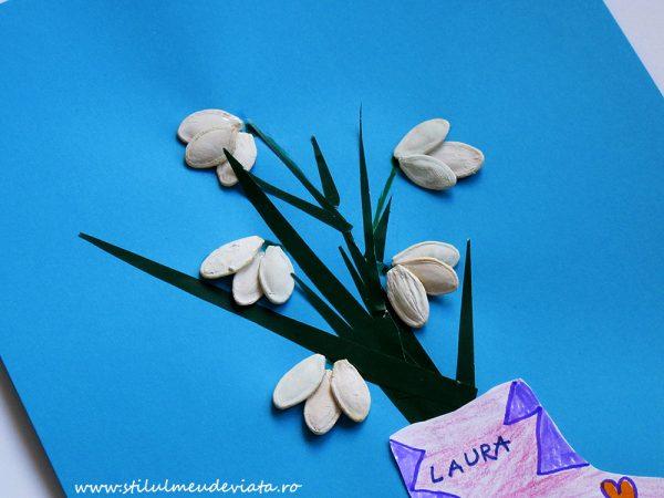 ghiocei din semințe de dovleac