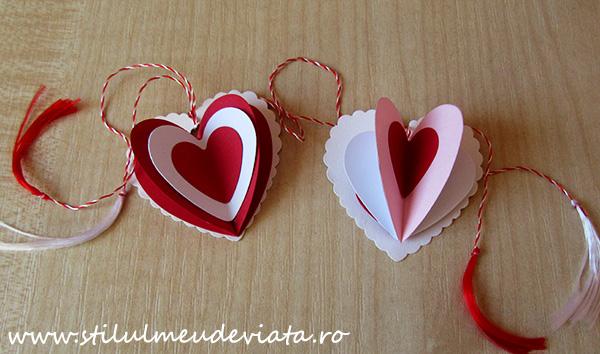 marțișoare cu inimioare