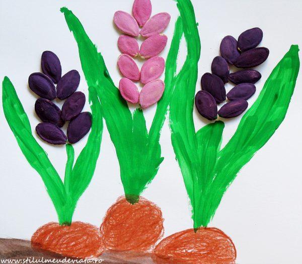zambile din semințe de dovleac