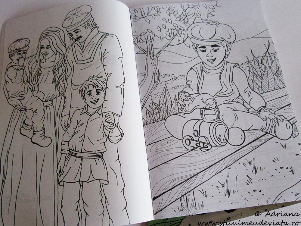 Mărunțilă și Bancnoțilă, carte de colorat