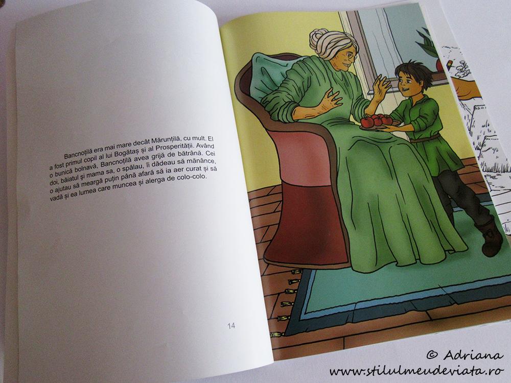 Mărunțilă și Bancnoțilă, pagină din carte