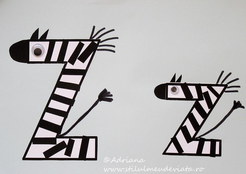 litera Z de la ZEBRĂ