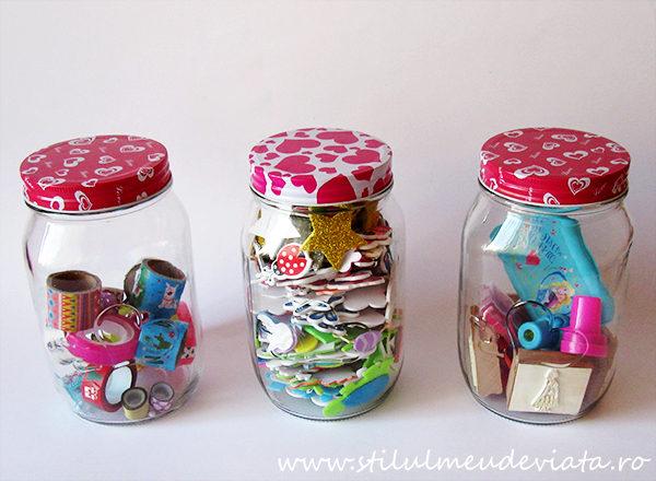 borcane cu capac, organizare și depozitare în camera copilului