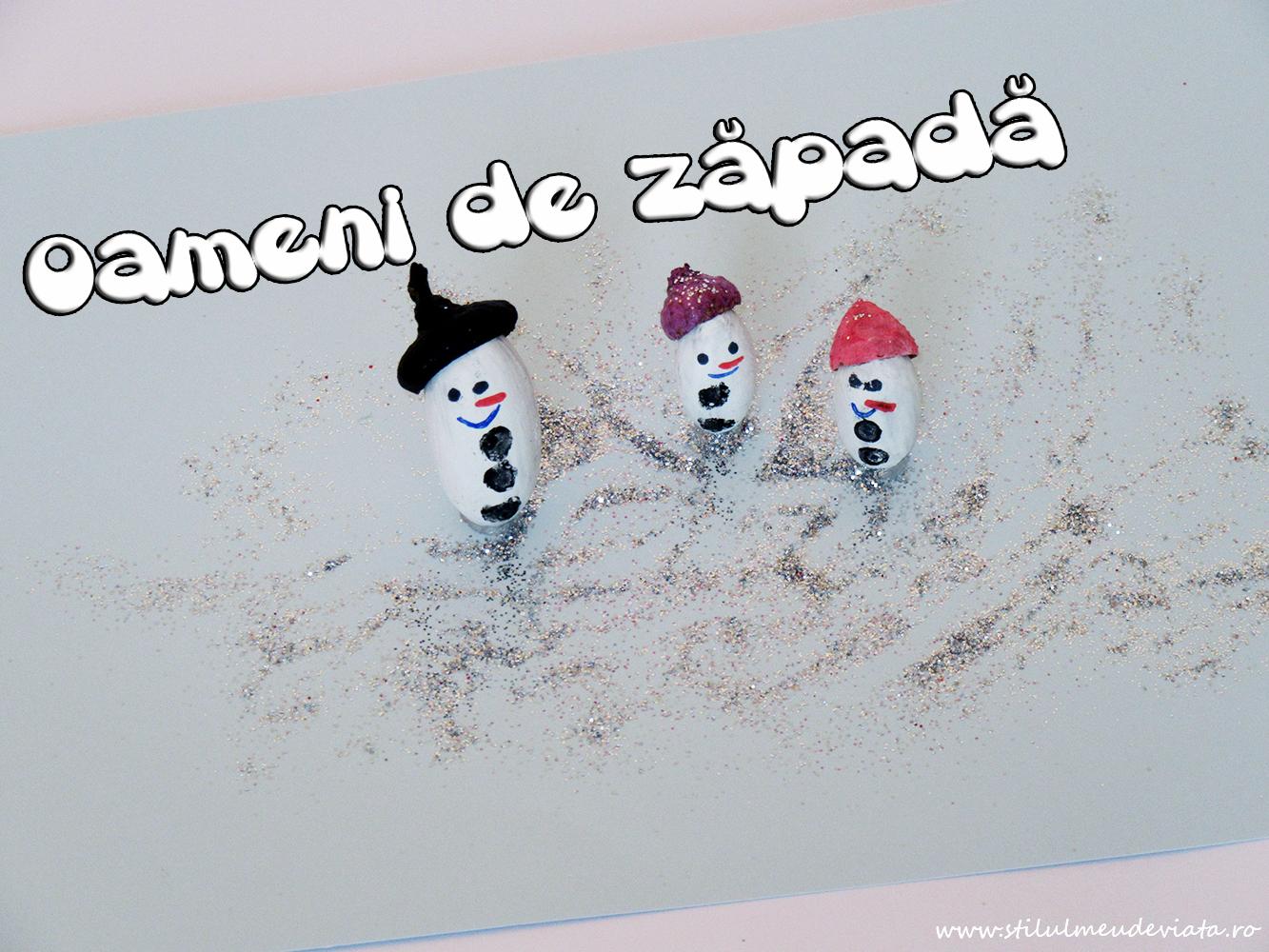 oameni de zăpadă din ghinde