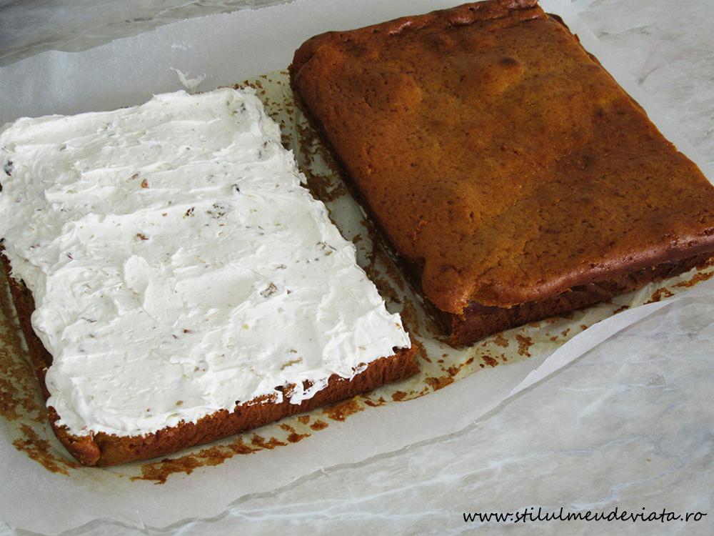 prăjitură cu dovleac și cremă mascarpone
