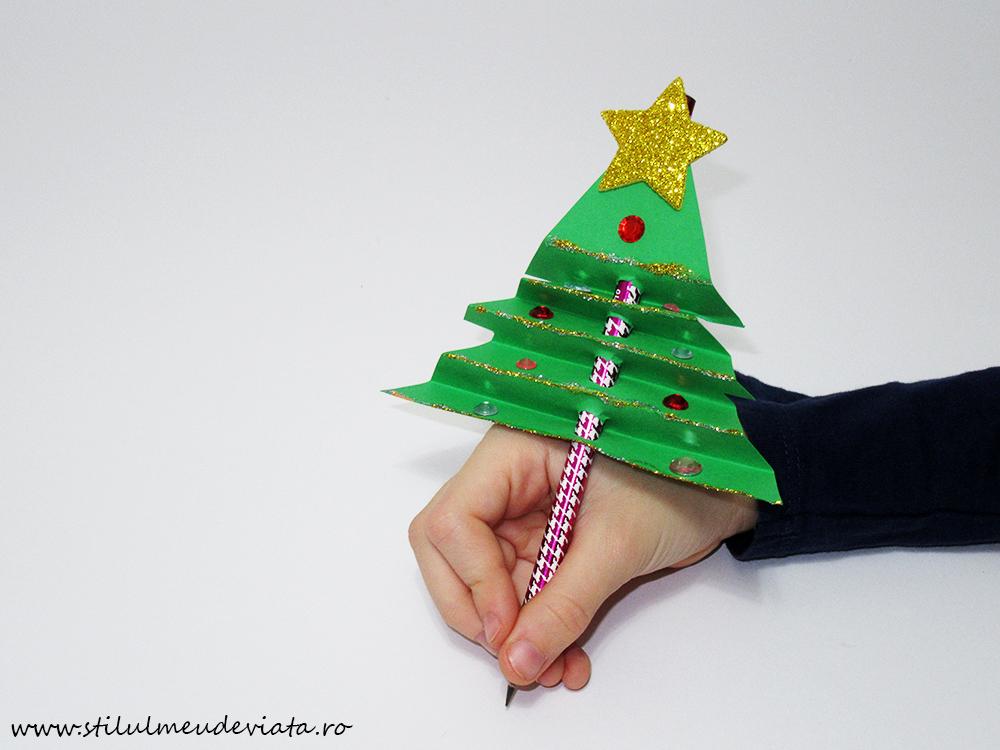 creion cu brăduț de Crăciun