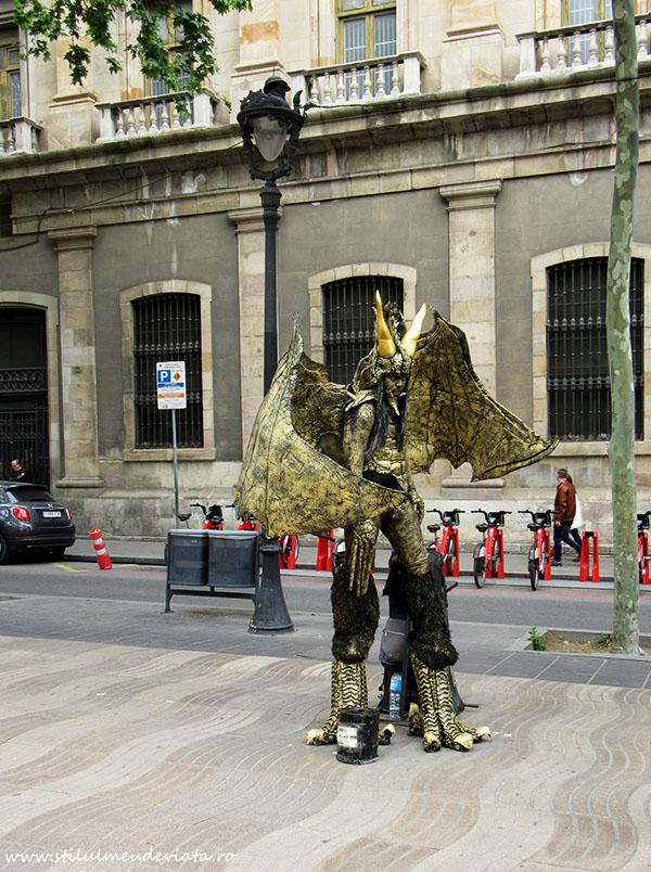 Statui umane, La Rambla, Barcelona