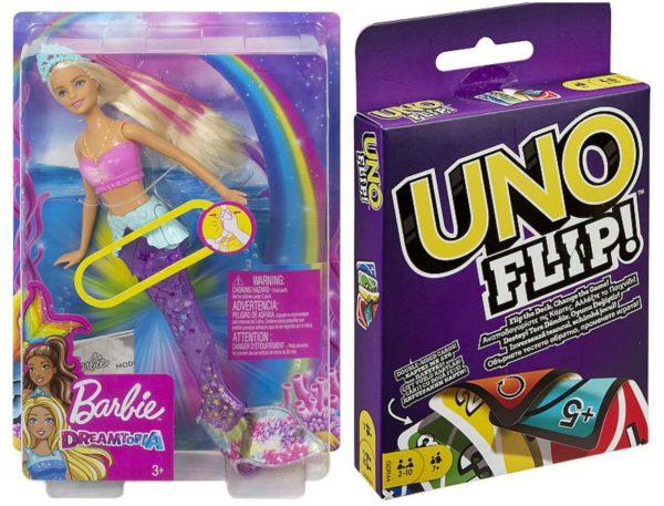 Păpușă Barbie + joc Uno