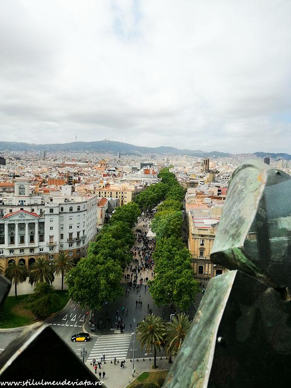 Barcelona văzută din Columna lui Columb