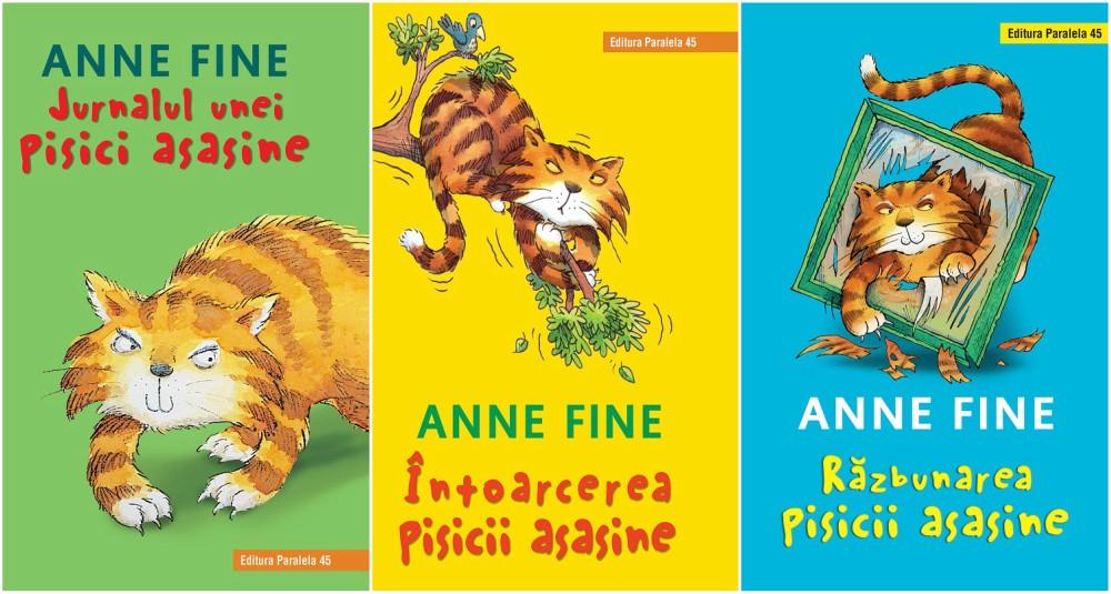 """seria de cărți """"Pisica asasină"""", editura Paralela 45"""
