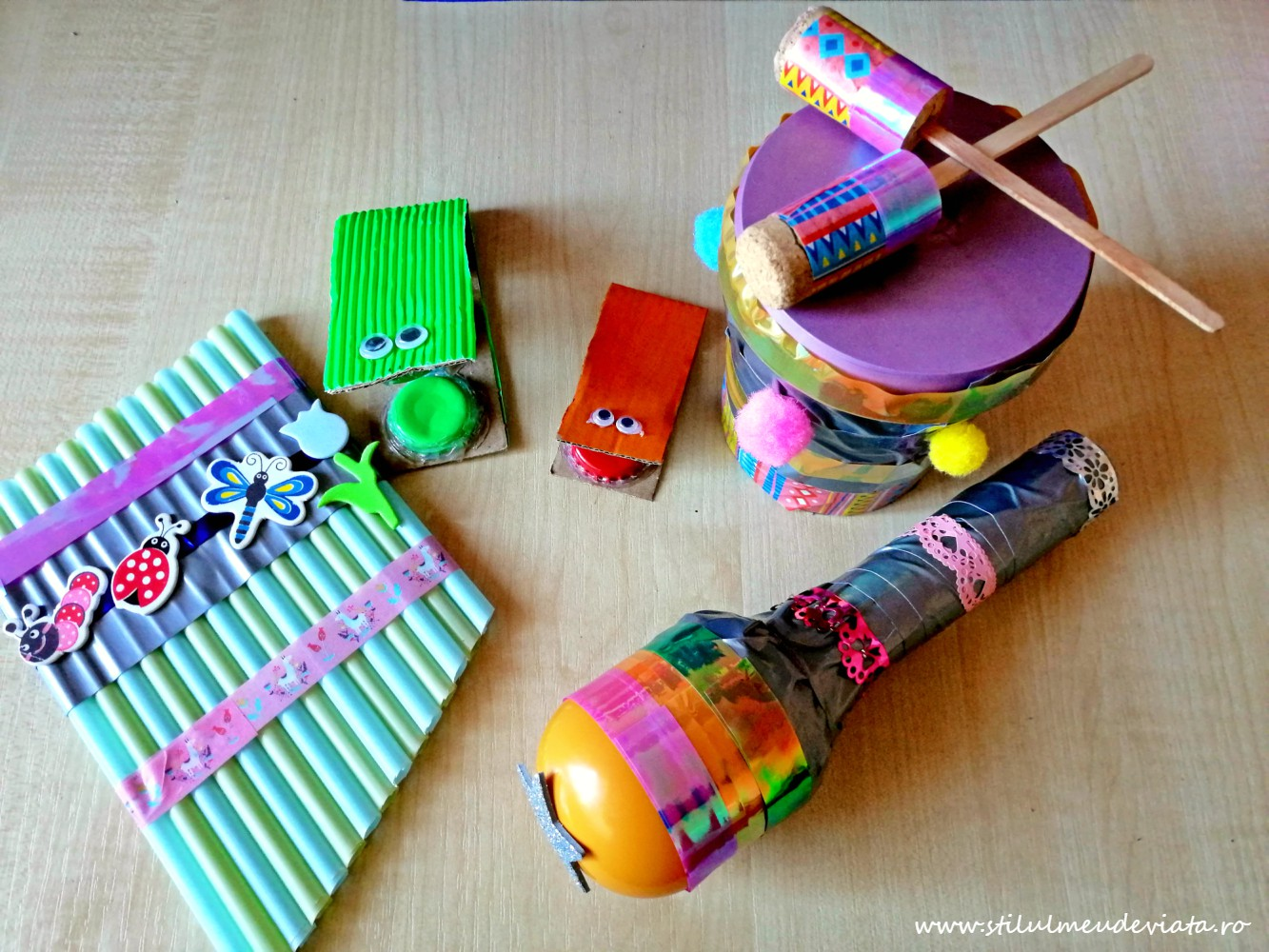 instrumente muzicale din materiale reciclate