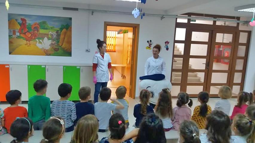 Zâna Merciluță, activitate cu copiii de la grădiniță
