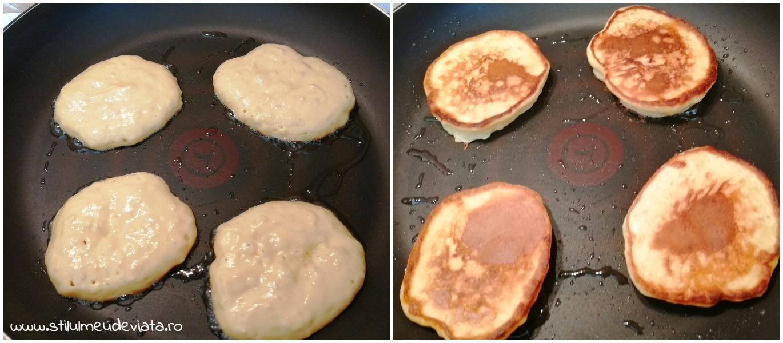 clătite pufoase cu banane şi iaurt