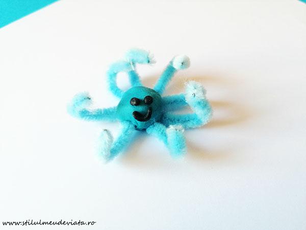 caracatiță pui