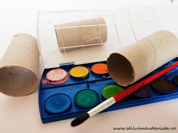 craft din tuburi de carton
