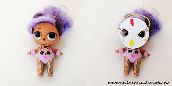 păpușă LOL cu o mască puișor